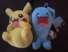 "Pokemon Pikachu And Wobbuffet Plush 8"" TOMY New with Tags"