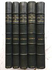 RABELAIS «Les Cinq Livres» Reliure signée DUPRÉ Librairie Bibliophiles 1876