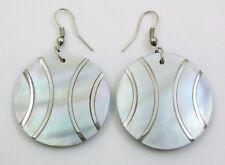 Natural Mother of Pearl Shell Dangle Drop Earrings Handmade Women Jewelry FA275