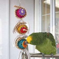 Parrot Toys Ball Pet Bird Bites Climb Chew Hanging Cockatiel Parakeet Swing Cage
