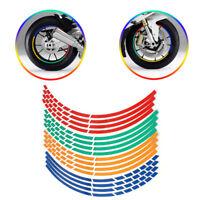 Motorrad Auto Fahrrad Rad-Reifen Reflektierende Aufkleber Reflektoren Neu·