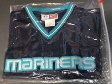 Vtg 90s Nike SEATTLE MARINERS Baseball Jersey SEWN Logos MENS XL
