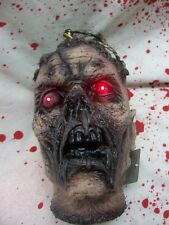 Zombie Severed Head w LED Red Eyes Bloody Halloween Haunt Prop Dead New