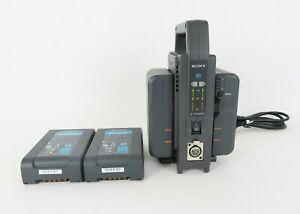Lot Sony BC-L70 Simultaneous Dual Battery Charger + 4 BP-GL65A Li-ion Batteries