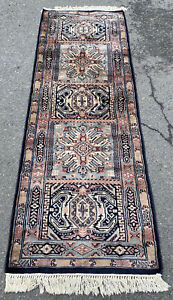 """Vintage Hand Woven Middle Eastern Rug Runner 73""""L X 25""""W"""