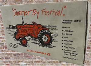 """Allis-Chalmers D14 Tractor Official 1989 """"Summer Toy Festival"""" Show Tractor 1:16"""