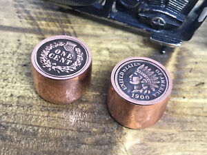 Custom all copper Indian head penny control knobs. One of a kind.