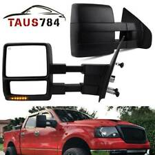 For 04-06 F150 Extendable Towing Mirrors Power Heated Signal Led Left Right Pair