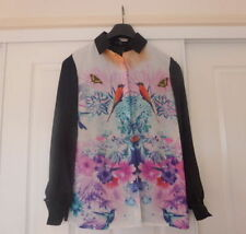 Women's Floral Hand-wash Only Button Down Shirt Tops & Blouses