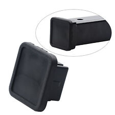 "1 Pc 2"" Hitch Cover Tralier Hauling Towing Cover Black Rubber Square with Groove"