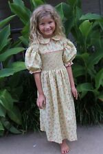 New listing Vintage Baby Girls Hand Smocked Green Dress Size 8 Excellent Condition!