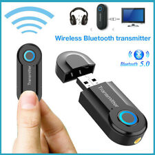 Bluetooth5.0 Transmitter Wireless For TV Phone PC Audio Music 3.5mm USB Adapter