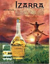 PUBLICITE ADVERTISING 026  1963  Izarra  liqueur basque