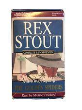 Rex Stout | Nero Wolfe Cassette Audio Book | The Golden Spiders | Vg | UnAbridge