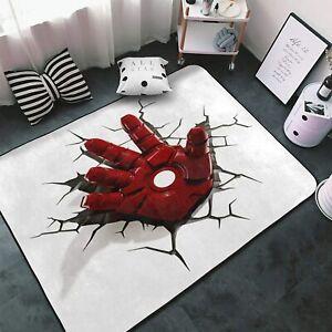 Marvel Avengers 3D Rugs Area Rug Living Room Bedroom Flannel Floor Mat Carpet