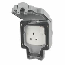 Waterproof Outdoor 13a Switched Single Socket Ip66 Outside Use
