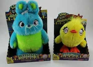 Signature Collection Toy Story 4 Bunny & Ducky Carnival Plush Deluxe Set NEW COA