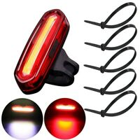 LED Bike Bicycle Front Rear Lights Set Push Cycle Clip Light Alarm Tail Light
