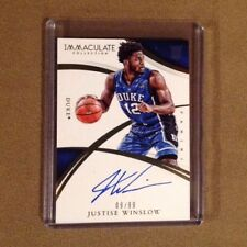 Justise Winslow 2015 Immaculate Collection Rookie Autograph #/99 Duke Blue Devil