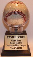 Baseball Display Case Holder Free Engraved Nameplate #2