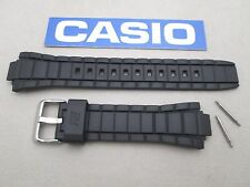 Genuine Casio Edifice EFR-519 black resin rubber watch band strap with pins