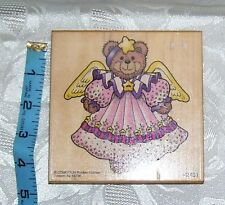 Comotion Large Angel Bear Rubber Embossing Stamp #2491