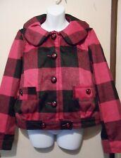 Fabulosity Junior Plaid Winter Jacket Pink Large (L) NWT