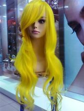 new YELLOW LONG WAVY full wig CosplayDNA Wigs