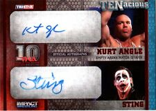 TNA Sting & Kurt Angle 2012 TENacious RED Dual Autograph Card SN 10 of 10