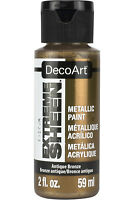DecoArt DPM08-30 Extreme Sheen Metallic Acrylic Paint, Antique Bronze, 2 Oz