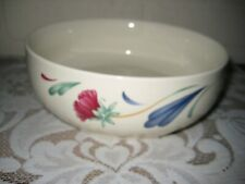 "Nice Lenox Poppies on Blue Round 7 "" Vegetable Bowl"