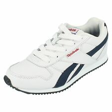 Reebok 'Royal Cl Jogger' Boy's White Laced Leather/Synthetic Casual Trainers