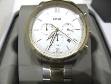 Fossil Men's Neutra Two Tone Stainless Steel Chronograph Watch FS5385 NWT $165
