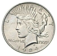 1924 $1 U.S. Peace Dollar Silver Coin Philadelphia Mint #JCQ00124