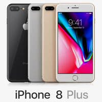 Apple iPhone 8 Plus 64GB 4G LTE (AT&T) Smartphone A+ 1-Year Warranty