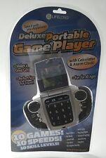Deluxe 10 Video Game Player w/Calculator & Alarm Clock Portable Skill Challenge