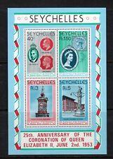 Seychelles 1978 25th Anniversary of Coronation mini sheet MNH