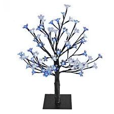 El Taller de Navidad BENROSS 45 cm 48 LED Flor árbol azul y blanca