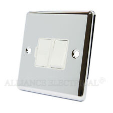 Polished Mirror Chrome Classical Switched Fused Spur 13Amp - CPCSFSWH