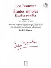 Etudes simples for Guitar - with Critical Notes and Instruction NEW 050565810