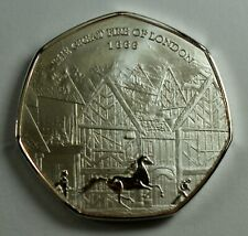 THE GREAT FIRE OF LONDON 1666 Silver Commemorative Coin Albums/50p Collectors.