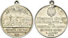 RAFFLER KOLONIEN DEUTSCH-SÜDWESTAFRIKA Versilberte Messingmedaille 1884, von Lau