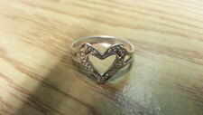 Beautiful Filigree Heart Love Band Ring Real Sterling Silver*Size 8*E646