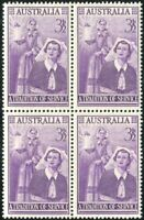 Australia 1955 SG287 3½d Nursing Profession block MNH