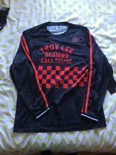 Troy Lee super retro long sleeve jersey in Black/Red. Size medium. New tags