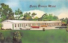 Port Richey Florida~Sunny Breeze Motel~1960s Postcard