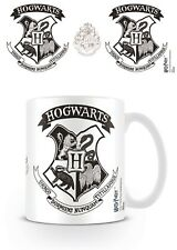 Harry Potter Hogwarts Black Crest Mug Official Warner Magic Wizard Spell Gift