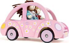 Le Toy Van Sophie's Car Wooden Dolls House Accessory Kids  -BN