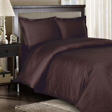 1000 Thread Count Egyptian Cotton Sheet Set 1000 TC SPLIT KING Chocolate Stripe