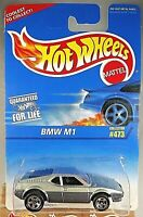 1996 Vintage Hot Wheels Collector #473 BMW M1 Silver Steel w/5 Spokes Blk Louver